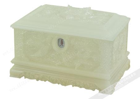 白玉龙凤盒