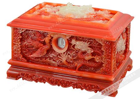 玛瑙龙凤盒